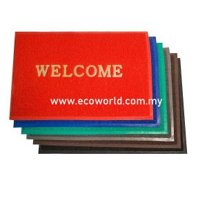 Standard PVC Coil Mat with Welcome -2'x3'/3'x4'/3'x5'/4'x6'